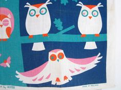 AMAZING Vintage Tea Towel Owls by NeatoKeen on Etsy, $64.00