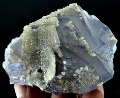 218 Grams Top Quality Blue Color & Color Change Fluorite with Drusy Clacite
