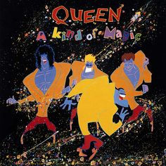 A Kind of Magic is the twelfth studio album by the British rock band Queen, released on June 1986 by EMI Records in the UK and by Capitol Records in the US. It was their first studio album to be recorded digitally, and is based on the soundtrack t Queen Album Covers, Rock Album Covers, Classic Album Covers, John Deacon, Discografia Queen, Queen Art, Lps, Albums Queen, Queen Banda