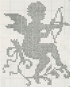 Simple Cupid cross stitch pattern for Valentines Day Cross Stitch Angels, Cross Stitch Charts, Cross Stitch Designs, Cross Stitch Patterns, Cross Stitching, Cross Stitch Embroidery, Embroidery Patterns, Crochet Patterns, Crochet Diagram