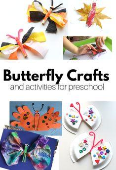 Butterfly crafts for preschool - great for kindergarten too. #crafts #spring #butterfly #bugs #kindergarten