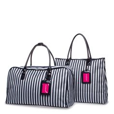 Shoedazzle bag and tote in Navy Blue and White Stripes (to match their High Roller luggage tote!)