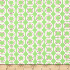 "Moda Grow Dandelions Grow Green from @fabricdotcom  Designed by Me & My Sister Designs for Moda, this cotton print fabric is part of the ""Grown"" collection. Use for quilting and craft projects as well as apparel and home décor accents. Colors include pink and green."