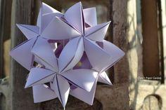 purple origami - kusudama