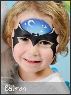 batman face painting by mimicks