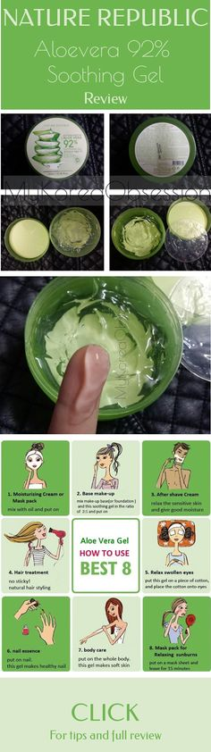 [NATURE REPUBLIC] Aloe Vera 92% Soothing Gel: Review This gel is the real meaning of a holy grail beauty product. you can find a way to use it for every part of your body. Check my blog to find out more about one of the most popular korean skin care products!
