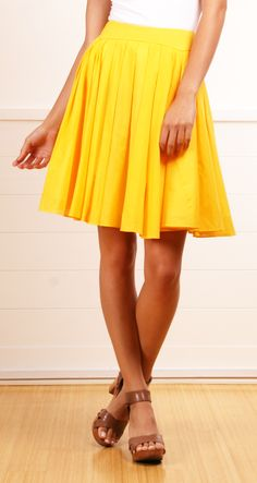 Morine Comte Marant yellow pleated skirt