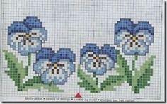 Χειροτεχνήματα: Μικρά μοτίβα λουλουδιών για κέντημα / Small flower cross stitch patterns