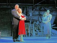 """From left, Ron Raines as Benjamin Stone, Bernadette Peters as Sally Durant Plummer, Lora Lee Gayer as Young Sally, and Nick Verina as Young Ben in the Kennedy Center production of """"Follies,"""" running through June 19."""