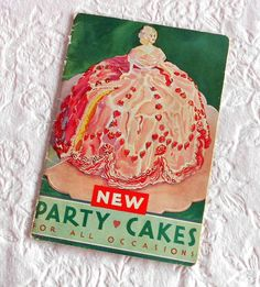 Antique Vintage Betty Crocker 1933 Softasilk New Party Cakes for All Occasions Recipe Cookbook Book Booklet Queen of Hearts Pamphlet