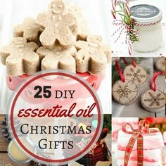 25+ easy homemade essential oil gifts for Christmas- includes bath bombs, soaps, scrubs, ornaments, mugs, diffuser necklaces, and more!