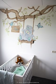 muurschildering tatty teddy me to you beertje www. Baby Bedroom, Baby Boy Rooms, Baby Room Decor, Baby Cribs, Kids Bedroom, Nursery Decor, Bedroom Themes, Bedroom Decor, Baby Girl Elephant