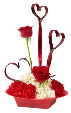 Great Valentines Day or Anniversary flower arrangement.