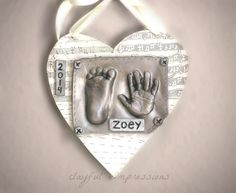 Personalized Keepsake Baby Print in Ceramic by TheBabyHandprintCo   https://thebabyhandprintco.storenvy.com/admin/storefront
