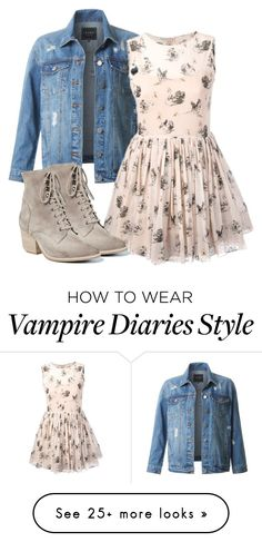 """Caroline Inspired Outfit - The Vampire Diaries / The Originals"" by fangsandfashion on Polyvore featuring LE3NO, RED Valentino and Jeffrey Campbell"