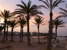 Javea beach sunset Javea Spain, Villa, Earth, Sea, Celestial, Sunset, Places, Pretty, Water
