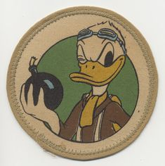 SOLD!!! Disney-Designed Patch for US 398th Bomb Squadron, 21st Bomb Group, 3rd AF (Used 18 Mos)