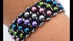 Amora Bracelet Beading Tutorial by HoneyBeads1 (Easy bracelet with pearls) - YouTube