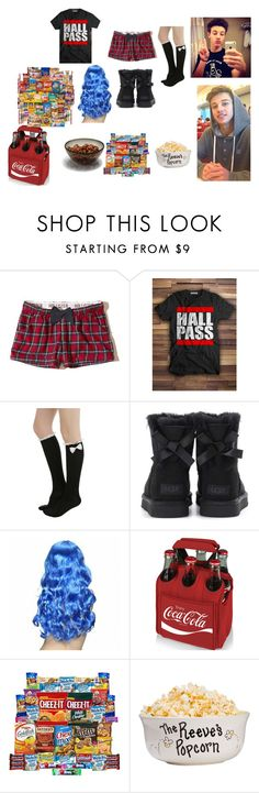 """movie night tin can dallas"" by yoitsdd ❤ liked on Polyvore featuring Hollister Co., UGG and Picnic Time"