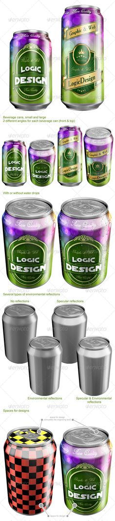 Beverage Cans Mock Up -  Logic_Design on graphicriver, $6