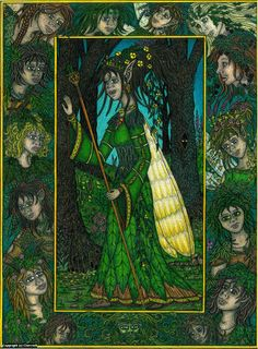 Infected By Art » Art Gallery » Cherrie Button » The Forest Queen in Full Colour Artwork