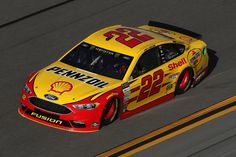 Joey Logano, driver of the #22 Shell Pennzoil Ford, drives during practice for the Monster Energy NASCAR Cup Series Advance Auto Parts Clash on February 17, 2017 at Daytona International Speedway in Daytona Beach, Florida.