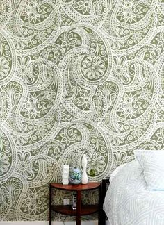 Lace Wallpaper. Where can I put it, I wonder..