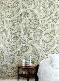 Lace Wallpaper. Where can I put it, I wonder..
