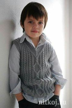 """Knitting Patterns Boy Ravelry: Pembroke Vest pattern by Kirsten Kapur"", ""I'm afraid the Petite Purls website has shut down and t Baby Boy Knitting Patterns, Knitting For Kids, Knitting Designs, Baby Patterns, Knitting Projects, Matching Sweaters, Baby Sweaters, Crochet Vest Pattern, Free Pattern"