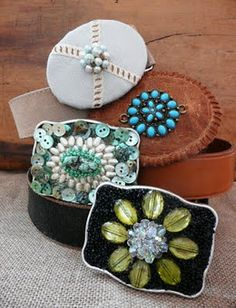 upcycled belt buckles