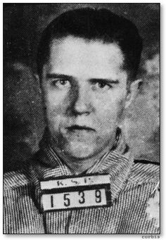"Alvin ""Old Creepy"" Karpis, 1908 - 1979. Along with Freddie Barker, who he met in prison, Karpis led the Barker-Karpis gang on a five-year crime spree throughout the Midwest. The men stole over $1 million and killed approximately 10 people. Karpis was captured in New Orleans by J. Edgar Hoover himself.  He spent most of his 33 years in prison on Alcatraz, and was deported to Canada on his release, where he wrote his memoirs. He died in Spain from an overdose of sleeping pills."