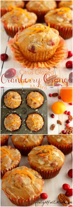 Light, sweet and studded with fresh cranberries and orange zest, these muffins are the perfect morning treat. Fantastic for breakfast or brunch! #BRMHolidays #CleverGirls
