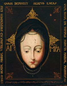 An 18th century copy of the miraculous image of Mary venerated in the abbey church of St Matthias in Trier, Germany.