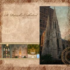 """St. Patrick's Cathedral"" Digital Scrapbooking Layout by Jan Hicks"