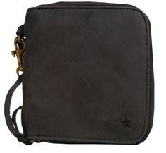 Converse Zipper Wallet for Men - The Converse Zipper Wallet for for Men is a full grain leather wallet from the Converse Sportswear Collection. This wallet has the classic Arched Star Converse logo, leather zipper pull, antique metal zipper, multiple interior pockets, and a pouch forcoins. It's what's inside that counts. Converse Logo, Converse Men, Full Grain Leather Wallet, Front Pocket Wallet, Antique Metal, Sportswear, Pouch, Zipper, Pockets