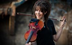 For anyone who doesn't know this is Lindsey Stirling. Go check her out on youtube!