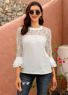 trendy tops for women online on sale Nice Dresses, Casual Dresses, Casual Outfits, Fashion Dresses, Clothing Patterns, Dress Patterns, Trendy Tops For Women, Blouse Dress, Fashion Sketches