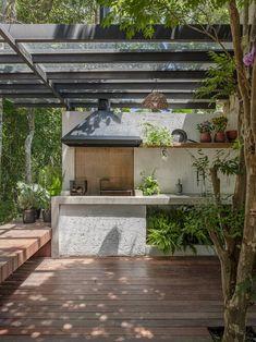 ANEXO CHALÉ MAIRIPORÃ — Macro Arquitetos Layouts Casa, House Layouts, Shed Design, Garden Design, House Design, Future House, Outdoor Spaces, Outdoor Living, Bali Style Home