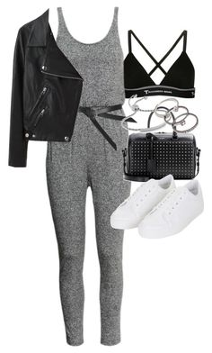 """""""Untitled #18814"""" by florencia95 ❤ liked on Polyvore featuring T By Alexander Wang, H&M, Topshop, Yves Saint Laurent, Acne Studios, Monica Vinader and Forever 21"""