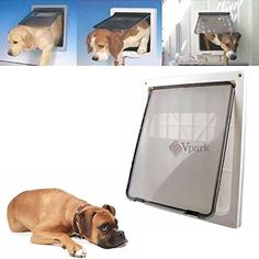 Extra Large 17 x 14 Pet Cat Dog Lockable Flap Door Gate w Telescoping Frame >>> Check out this great product. (This is an affiliate link and I receive a commission for the sales) #Catdoorsstepsnetsandpens