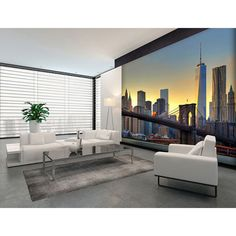 00148 Brooklyn Bridge At Sunset – Wall Mural