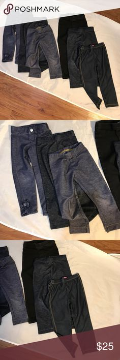 Lot of 6 leggings in 2T gray blue and black Lot of 6 girls leggings size 2T. The Children's Place, Old Navy, Gymboree. Good used condition Gymboree Bottoms Leggings