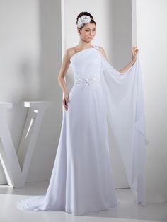 Beaded One Shoulder Chiffon Bridal Dress with Draping Decor Customer Rating:1Brands:TOSCAFreeship:YESFabric:Chiffon/Stretch SatinFabric(main):WeddingTailoring Time (Standard):15-20 DaysTailoring Time (Rush Order):10-15 DaysSilhouette:A-LineNeckline:AsymmetricalShoulder Strap:One…