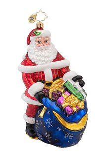 Christopher Radko Glass Wrapped Up Ready to Go Christmas Ornament 1016855 -- This is an Amazon Affiliate link. Click image to review more details.