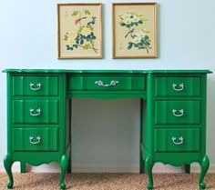 Paint furniture in the boldest of colors! By Natty by Design in House of Fifty mag