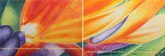 Titulo: Paraiso uno y dos Díptico Tamaño: 21 x 43,4 cm ( 2 de 21 x 21,7) Técnica: Dibujo sobre papel por Zarina Tollini  Puedes ver más  zarinatollini.blo...  www.facebook.com/...