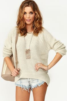 Oxford Knit - Cream in What's New at Nasty Gal