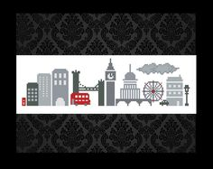 Cross Stitch Pattern London Instant Download PDF
