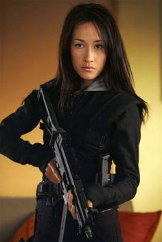 Maggie Q as La Femme Nikita ~ fictional TV characters You Can Do It 2. http://www.zazzle.com/posters?rf=238594074174686702