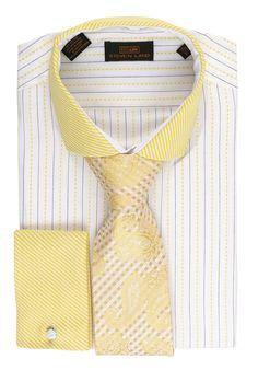 Steven Land Dress Shirt DS1542 | Yellow $69 #StevenLand #SpringCollection 100% cotton dress shirts classic fit